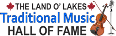Land O' Lakes Traditional Music Hall of Fame logo