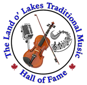 Land O' Lakes Traditional Music Hall of Fame logo circular